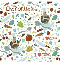 Chef of the Year seamless pattern vector