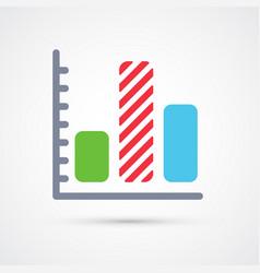colored graph trendy symbol vector image
