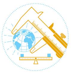 Concept measurement standards day vector