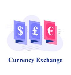 Currency exchange dollar or euro bonds vector