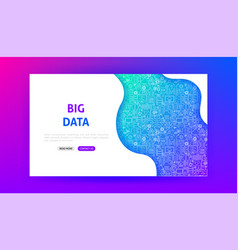 Data science technology landing page vector