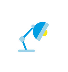 desk lamp energy electricity light flat icon vector image
