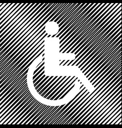 Disabled sign icon hole in vector