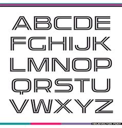Display sans serif font vector