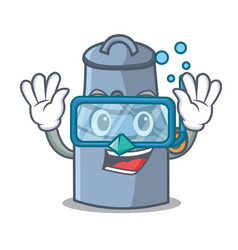 diving milk can character cartoon vector image