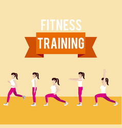 Fitness woman lifestyle vector