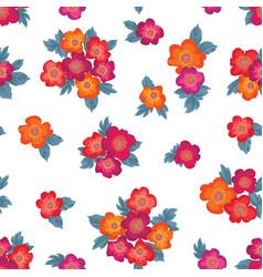 floral seamless pattern flower background garden vector image