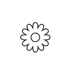 flower summer of icon vector image