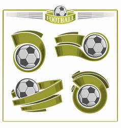 football balls vector image