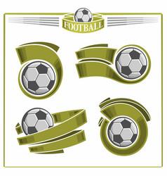 Football balls vector
