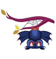 funny cartoon halloween owl flat poster vector image