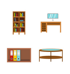 furniture icon set flat style vector image