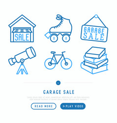 Garage sale concept vector