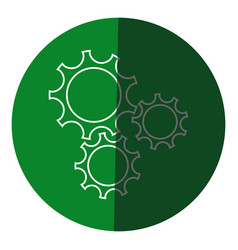 gear teamwork wheel mechanism power icon circle vector image