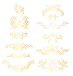 golden isolated headpiece floral decorations vector image