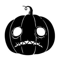 Halloween pumpkin with sad face vector
