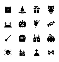 Halloween Traditional Icons Isolated vector
