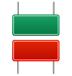 Image a realistic blank green and red highway vector