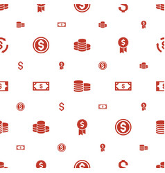 Income icons pattern seamless white background vector