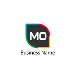 Initial letter mo logo template design vector