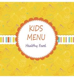 Kid menu vector image
