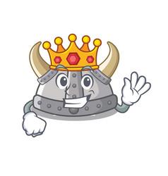 King viking helmet in a cartoon vector