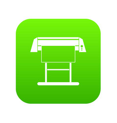 Large format inkjet printer icon digital green vector