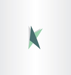 letter k logotype with triangles icon vector image