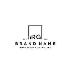 Letter rg square logo finance design vector