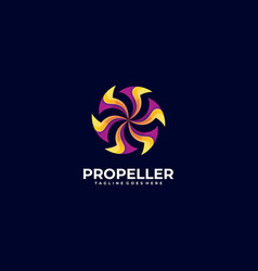 Logo abstract propeller gradient colorful style vector