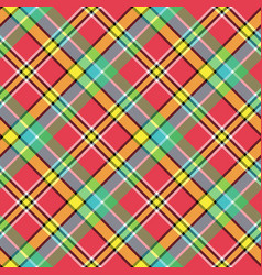 Madras diagonal plaid pixeled seamless pattern vector