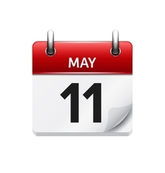 May 11 flat daily calendar icon date vector
