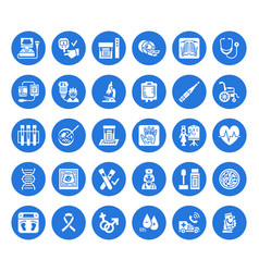 medical check up flat glyph icons health vector image