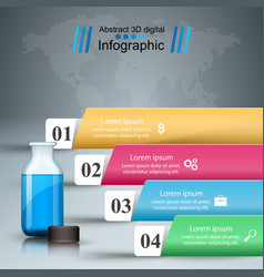 medical infographics bottle with a prescription vector image