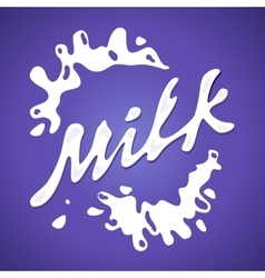 Milk label Splash and blot design shape vector