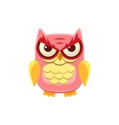 Mischievous Pink Owl vector
