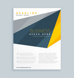 Modern business leaflet presentation template vector