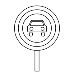 Movement of motor vehicles is forbidden icon vector