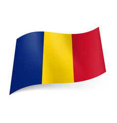 National flag of chad blue yellow and red vector