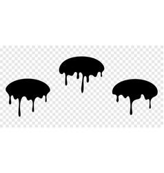 Paint drip stickers or oval labels liquid vector