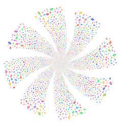 Percent fireworks swirl rotation vector