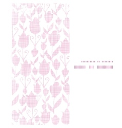 Pink textile tulips texture vertical frame vector