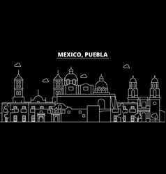 Puebla silhouette skyline mexico - puebla vector