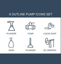 Pump icons vector