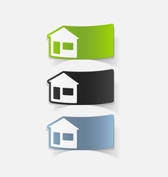 Realistic design element house vector