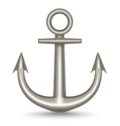 Realistic single metal anchor vector
