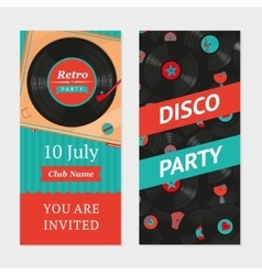 Retro party background invitation template vector