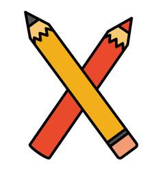 school pencil supply isolated icon vector image