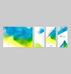 set watercolor card and poster vector image