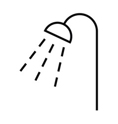 shower with water drop icon with outline and line vector image